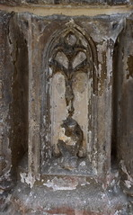 font shaft detail: lily in a pot