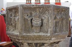 seven sacrament font: baptism