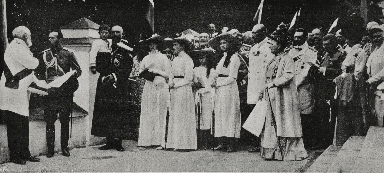 1913. Император Николай II принимает дворян в Ярославле