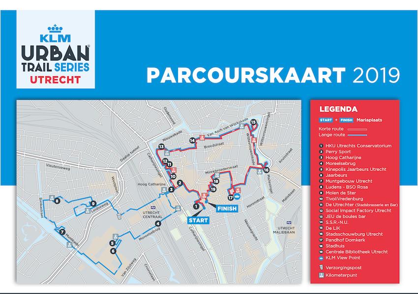 Parcourskaart KLM UT Utrecht