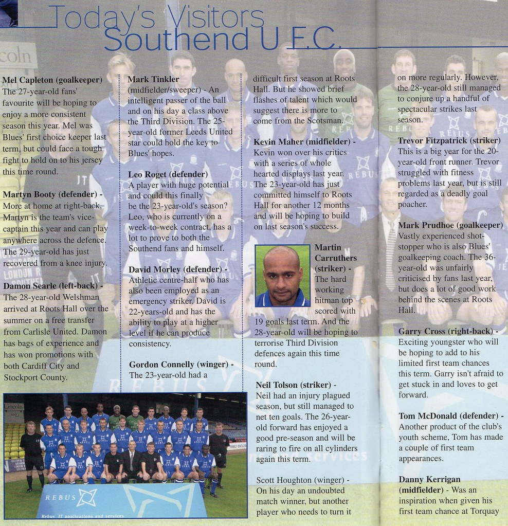 16-09-2000 Halifax Town 0-1 Southend United 4