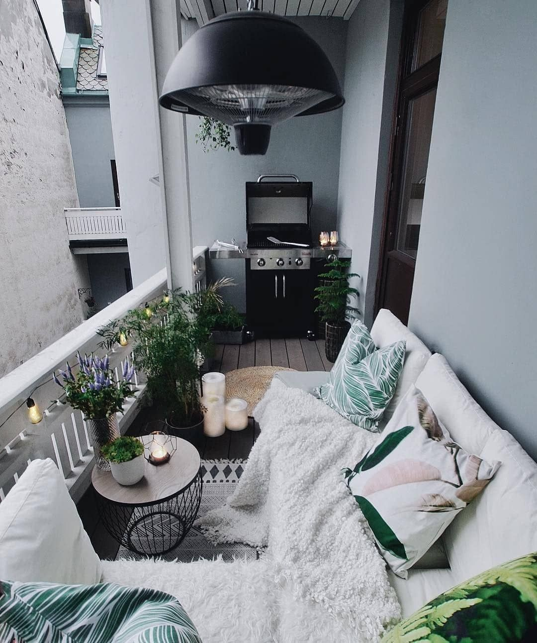Cozy Neutral Patio Ideas | The Best Decorated Small Outdoor Balconies on Pinterest | Small Patio Decor Ideas | Boho Apartment Patio Inspiration | Outdoor Furniture Inspiration
