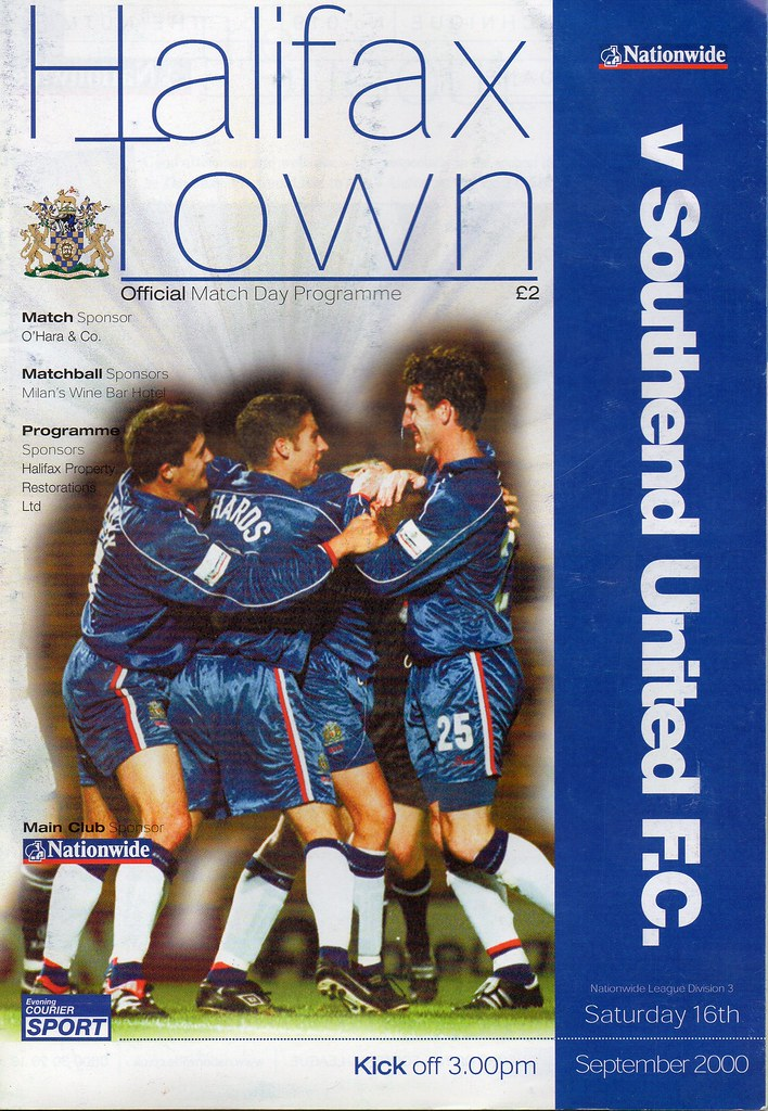 16-09-2000 Halifax Town 0-1 Southend United 1