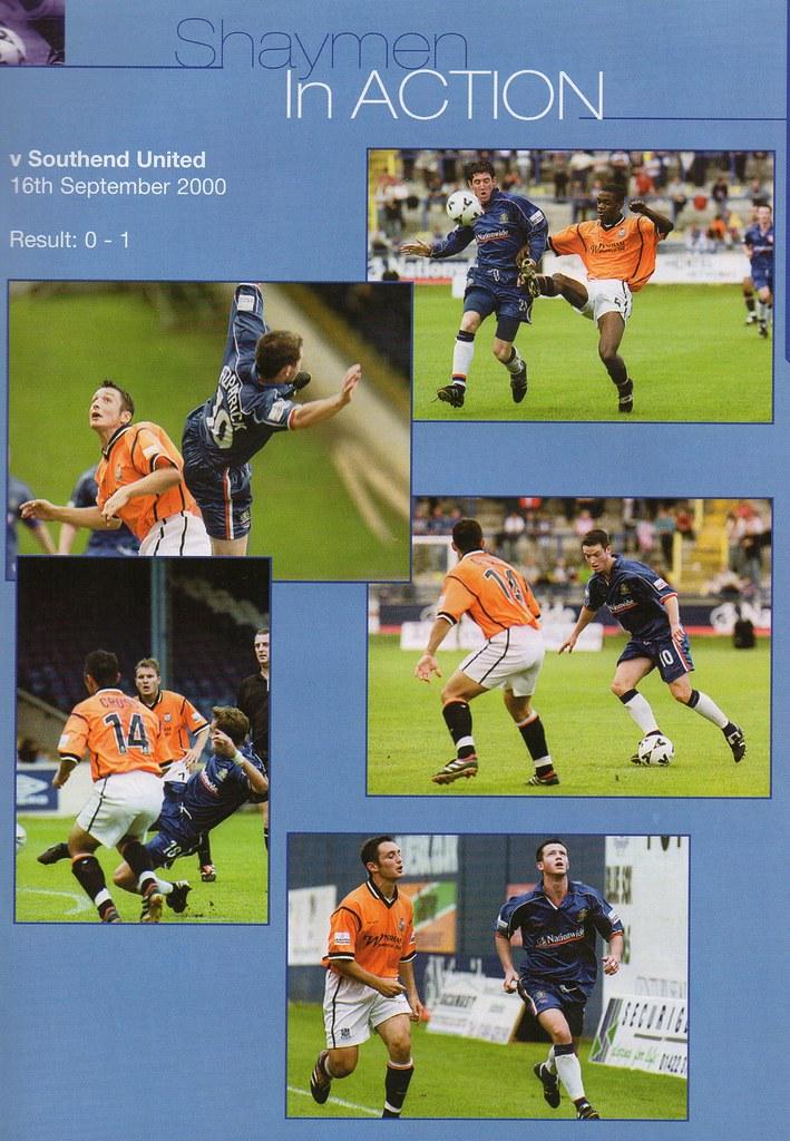 30-09-2000 Halifax Town 0-0 Shrewsbury Town 13
