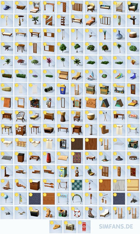 Sims 4 Ilhas Tropicais Objetos