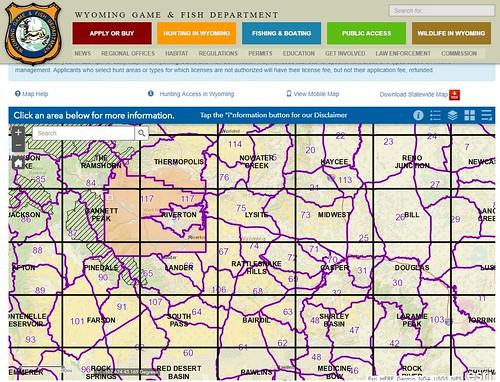 Wyoming: Public Room: Hunt Maps | Bureau of Land Management
