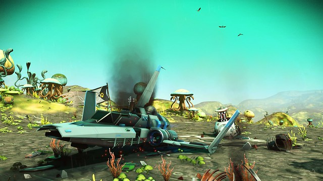 Crashed ship