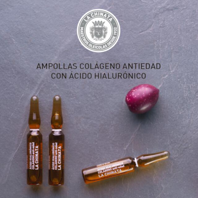 Ampollas Colágeno Antiedad con Ácido Hialurónico de La Chinata