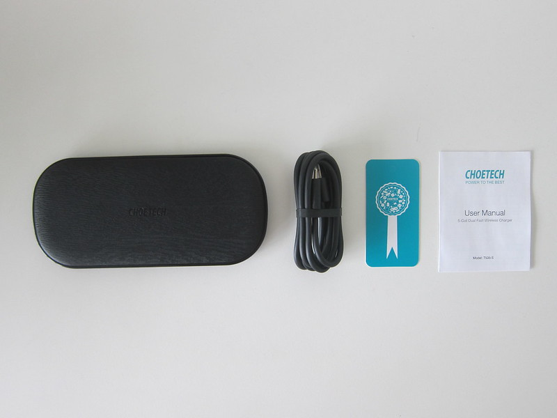 Choetech 5 Coils Dual Fast Wireless Charging Pad - Box Contents