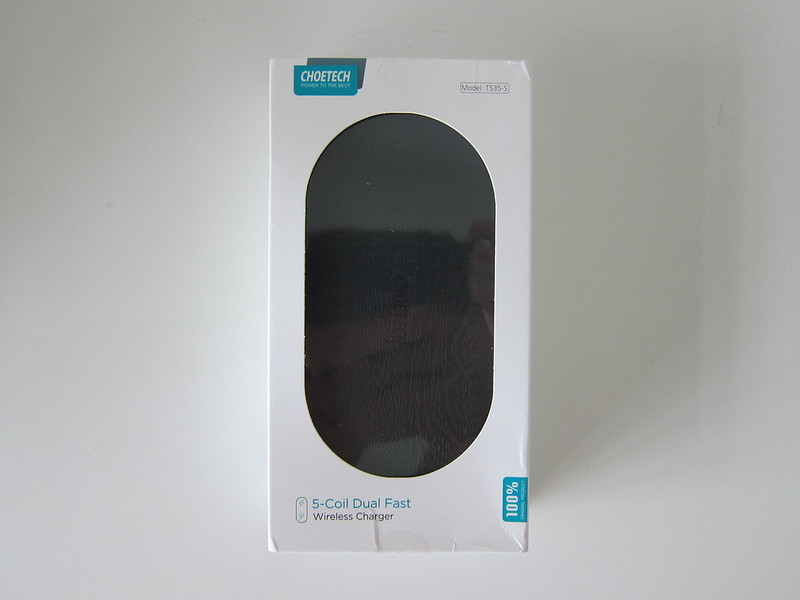 Choetech 5 Coils Dual Fast Wireless Charging Pad - Box Front