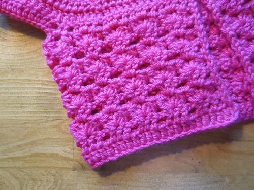 Closeup of Crocheted Cardi