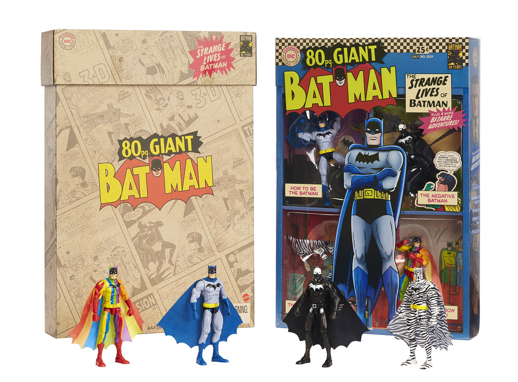 白銀時代的搶眼造型再現! Mattel DC Comics【蝙蝠俠 可動人偶四人套裝組】The 80 page Giant Batman: The Strange Lives of Batman Box Set【2019 SDCC 限定】