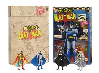 白銀時代的搶眼造型再現! Mattel DC Comics【蝙蝠俠 可動人偶四人套裝組】The 80 page Giant Batman: The Strange Lives of Batman Box Set【2019 SDCC 限定】