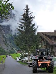 Tractor in Lauterbrunnen