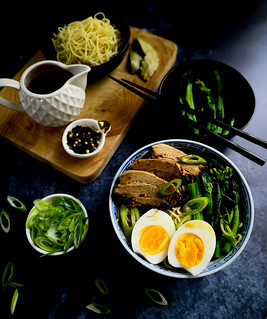 Slow cooked pork belly with noodles in vinegar broth | by michtsang