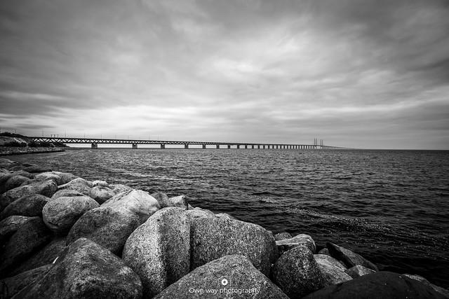 Oresund bridge connecting Denmark with Sweden