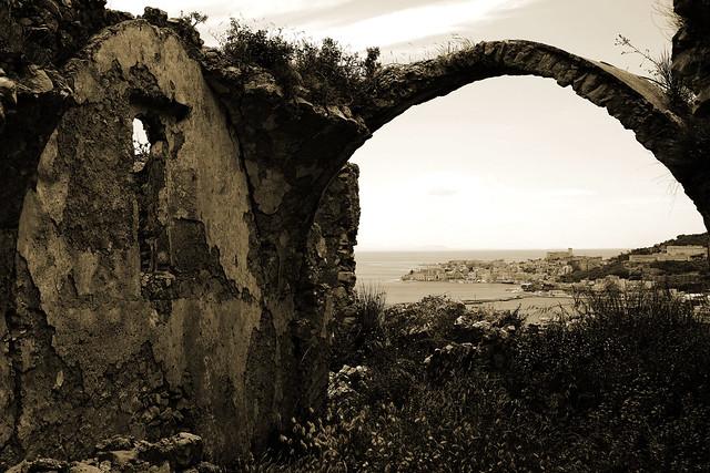 Gaeta  from monastery's ruins, Lazio