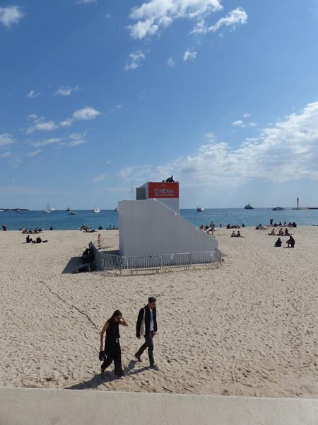 la cabine du cinéma de la plage