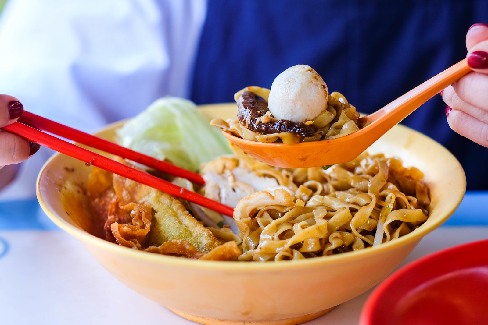 Cai Ji Fishball Noodle dry