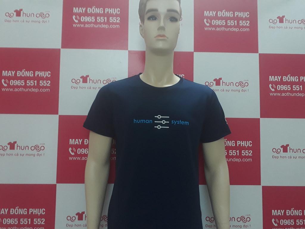 115 áo human system màu xanh đen