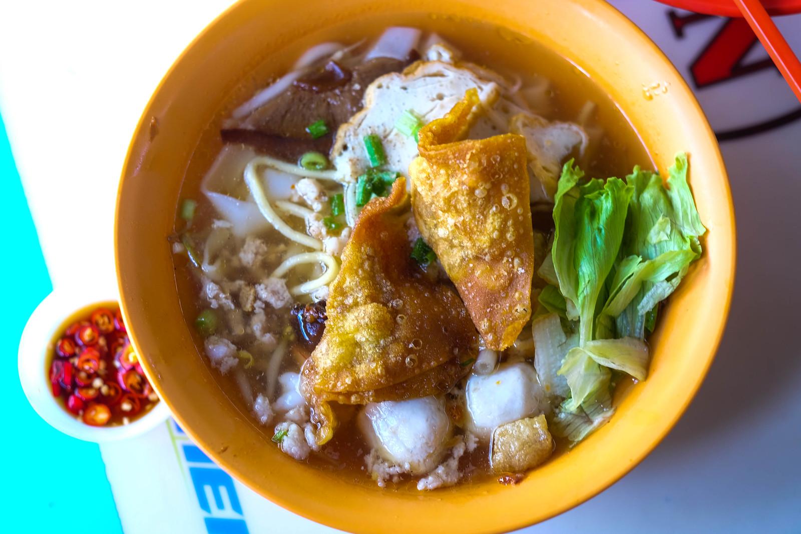 Cai Ji Fishball Noodle top down