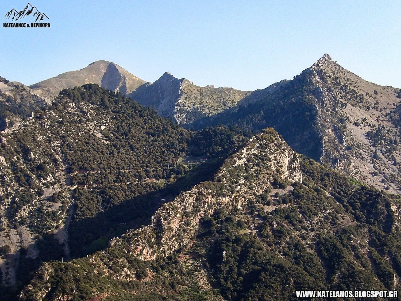 δερματι ευρυτανιας βουνοκορφες χελιδονας βουνα κορυφες ορεινη ελλαδα οικισμοι
