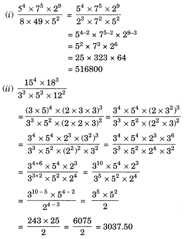 Exponents and Powers Class 7 Extra Questions Maths Chapter 13 Q18.1