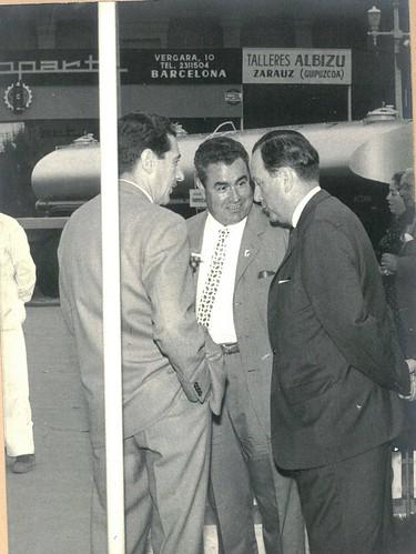 Srs Benasco i Garriga a la fira de Barcelona
