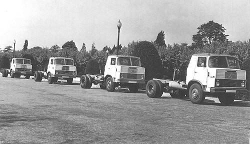 filera camions Henschel Hispania 11 a Montjuïc