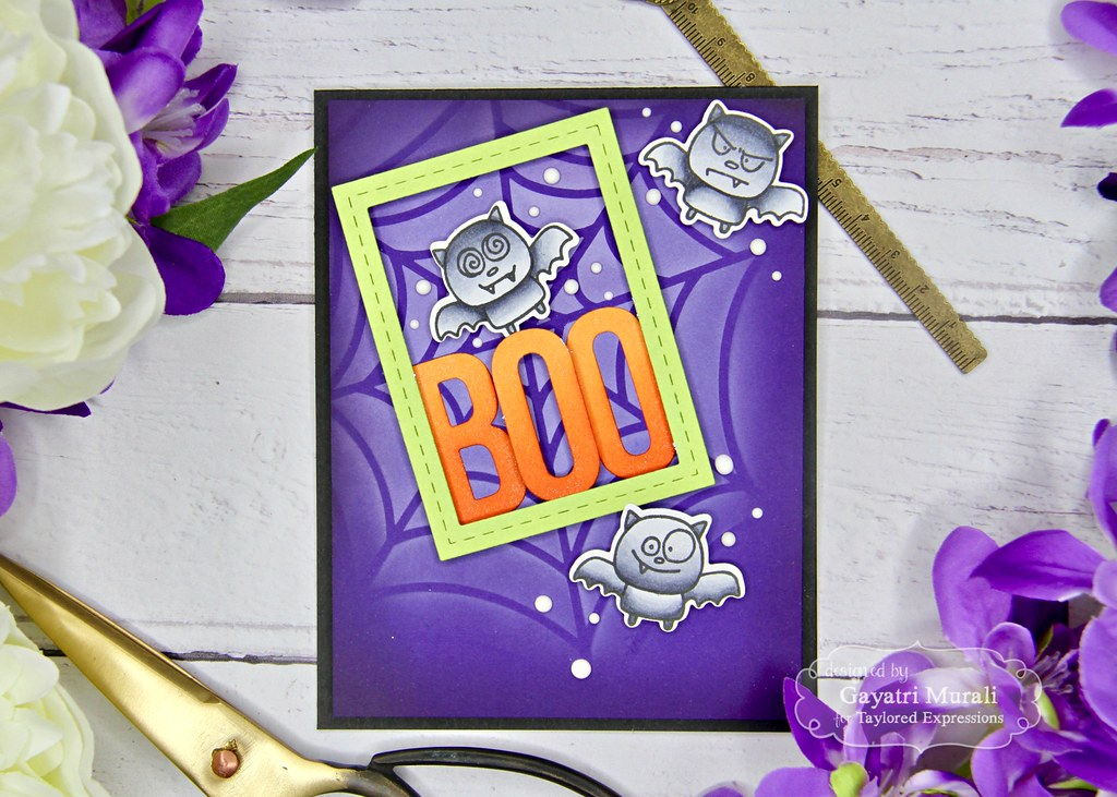 Blending using stencil card #6