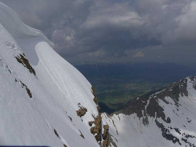 Blick vom tief verschneiten Nebelhorn