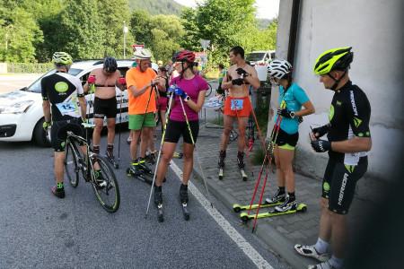 Výjezd nejen na kolečkových lyžích z Malé Skály na Kopaninu