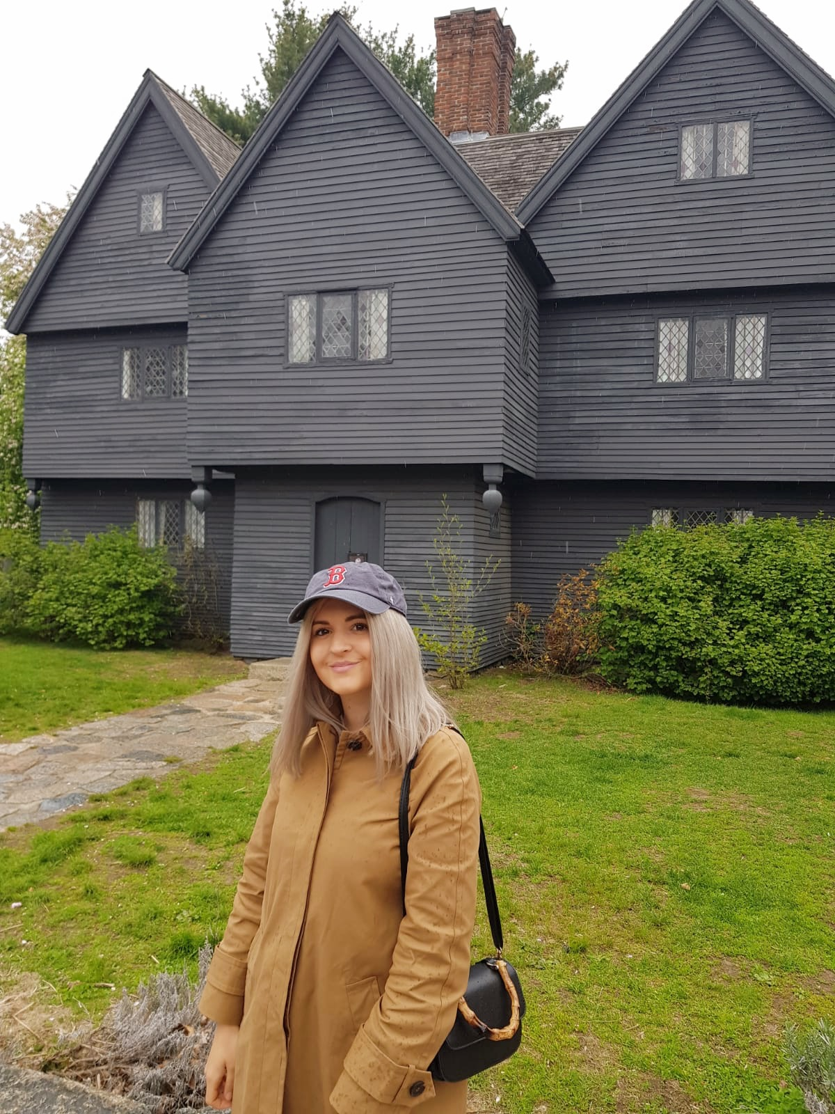 visiting the Salem witch house