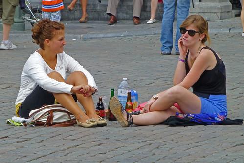 Picnic sur la Grand'Place de Bruxelles !?