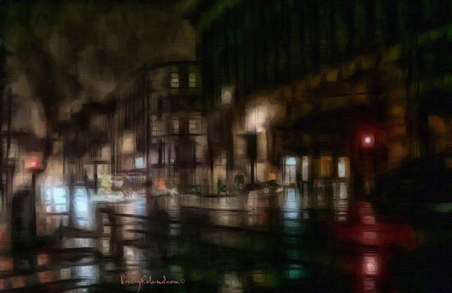Rainy night Bruxelles