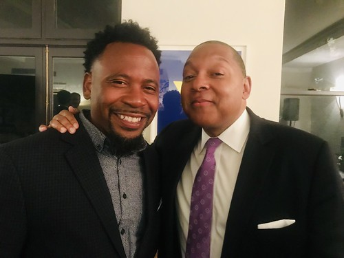 Marcel McGee and Wynton Marsalis at NYC fundraising event - June 12, 2019.