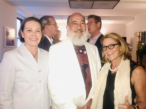 WWOZ/Jazz and Heritage Foundation Board Members Courtney Katzenstein, Judge Sidney Cates, Julie Wise Oreck. Photo by Beth Arroyo Utterback at WWOZ fundraiser in NYC - June 12, 2019.