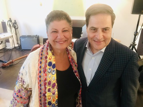 Beth Arroyo Utterback and Prima Foundation's Anthony Silversteri at NYC fundraiser for WWOZ - June 12, 2019.