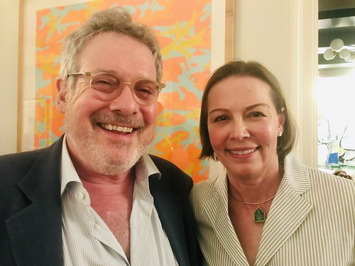 Fertel Foundation's Randy Fertel and Courtney at WWOZ fundraiser in NYC - June 12, 2019.