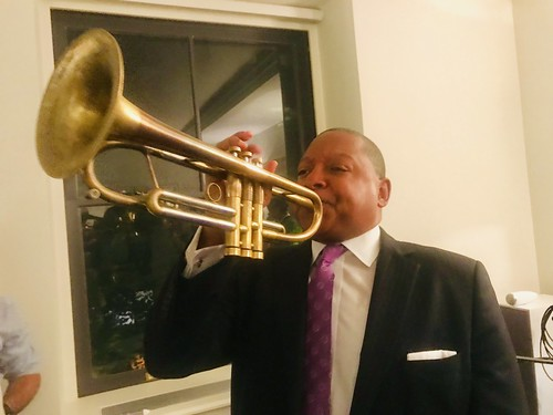 Wynton Marsalis at WWOZ fundraiser in NYC - June 12, 2019.