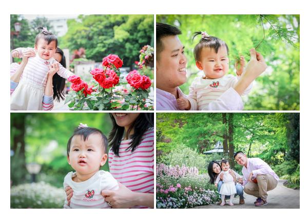 Family photo session in Nagoya, Japan, Flower Garden Flarie
