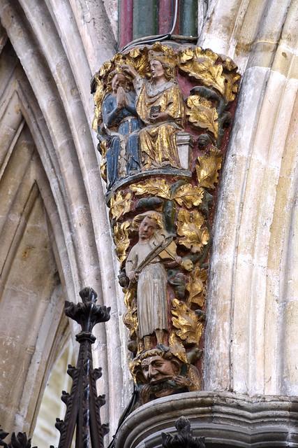 Exeter, Devon, cathedral, choir, coronation corbel