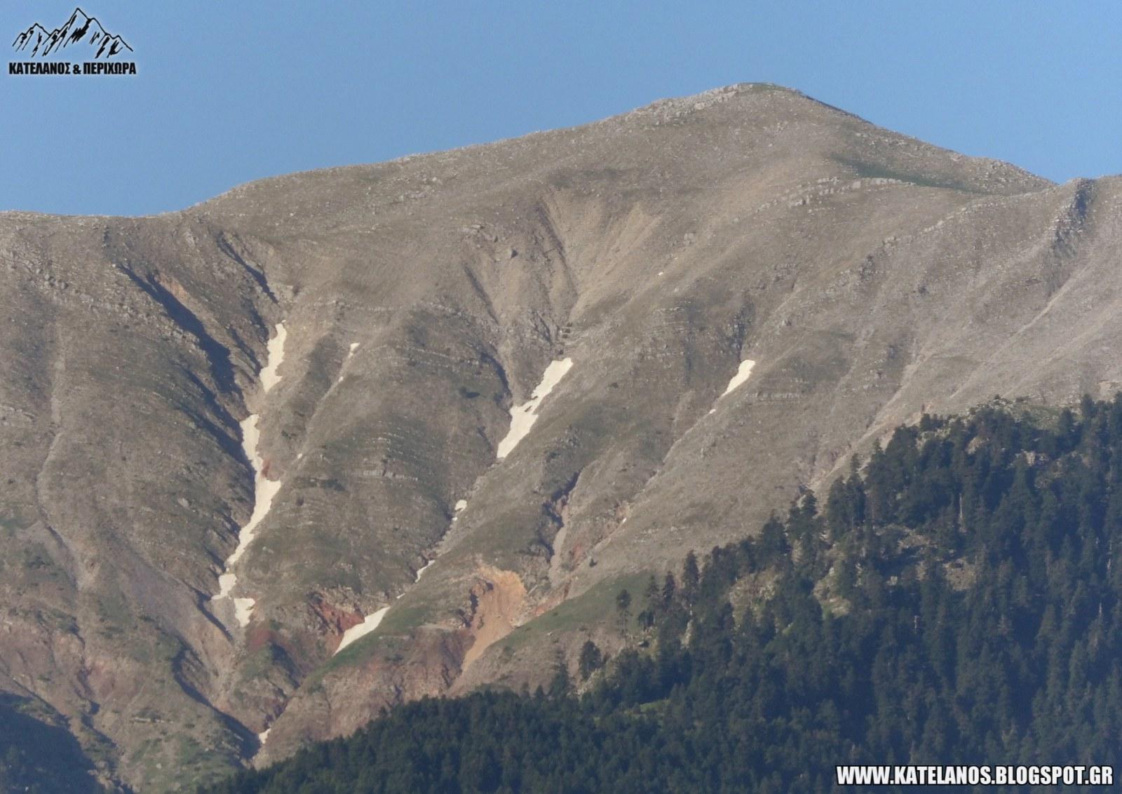 κατελανος βουνο χιονουρες δυτικη πλευρά