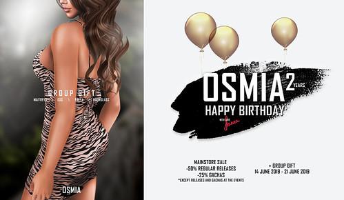 Happy Birthday, OSMIA!