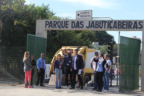 Visita técnica para analisar a implantação de ciclovia no Parque das Jabuticabeiras Comissão de Desenvolvimento Econômico, Transporte e Sistema Viário