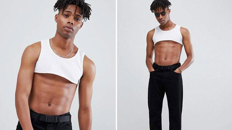 Lo más trendy, crop top para hombres
