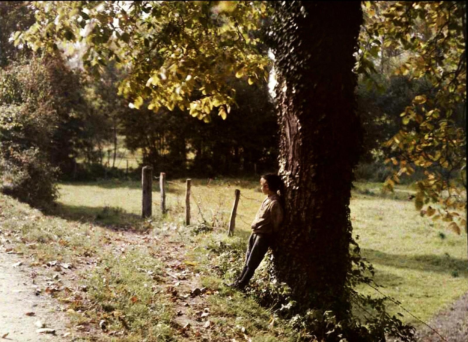 1910. Пьер Гейн возле дерева