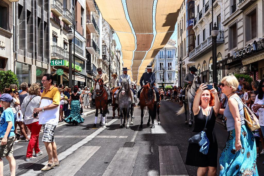 Rocio riders in Granada street