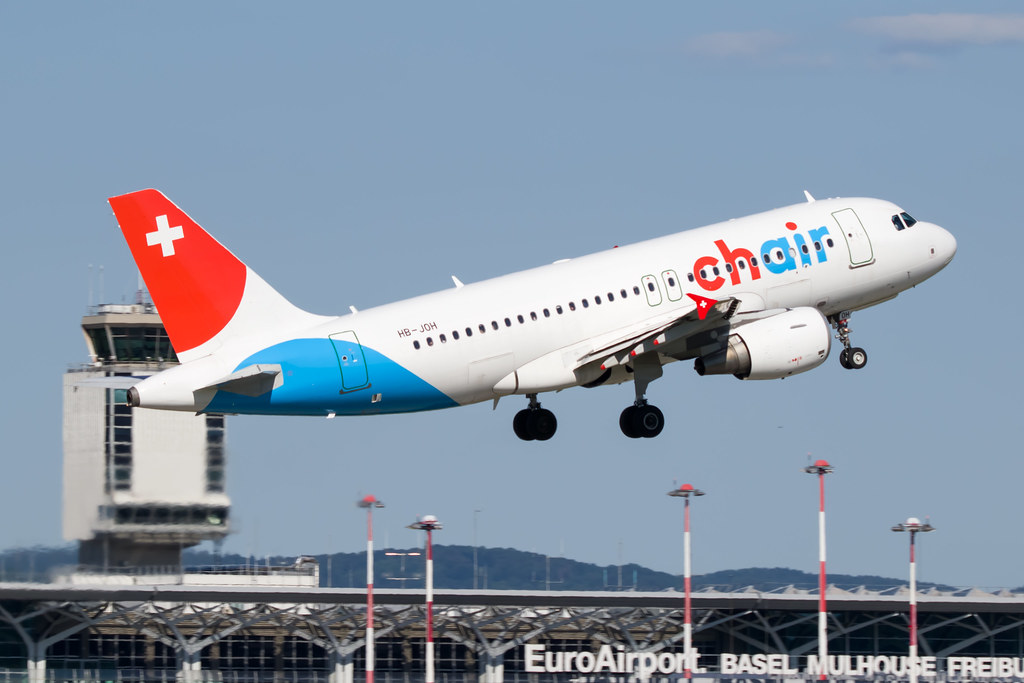 HB-JOH Chair Airlines Airbus A319-112 @ Basle / Mulhouse / Freiburg Euro Airport (BSL / LFSB)