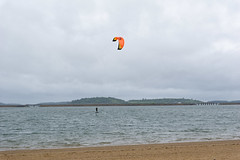 Parachute surfing, always good for a rainy and windy day!